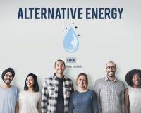Het schone Concept van de Water Alternatieve Energie H2o Royalty-vrije Stock Fotografie