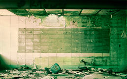 Het schoolgebouw van de brandwond uit Royalty-vrije Stock Afbeelding