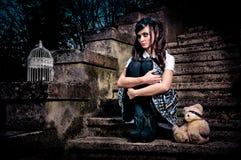 Het schoolmeisje van Lolita Royalty-vrije Stock Fotografie