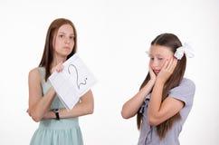 Het schoolmeisje verstoorde verkregen zeer raming stock fotografie