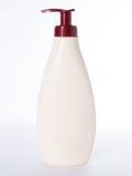 Het schoonheidsmiddel van de automaatpomp of hygiëne, plastic fles van gel, liqui Stock Fotografie