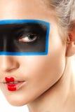 Het schoonheidsportret van jonge vrouw met creatief maakt omhoog Royalty-vrije Stock Afbeelding