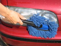 Het schoonmaken autolicht Royalty-vrije Stock Foto
