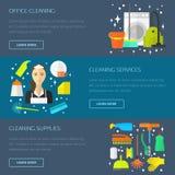 Het schoonmaken concept, malplaatje Royalty-vrije Stock Fotografie