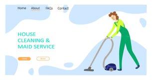 Het schoonmaken de dienstconcept stock illustratie