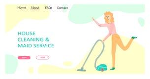 Het schoonmaken de dienstconcept royalty-vrije illustratie