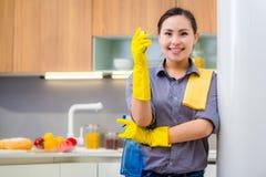 Het schoonmaken in de keuken royalty-vrije stock foto