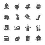 Het schoonmaken pictogramreeks vector illustratie