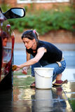 Het schoonmaken van de auto Royalty-vrije Stock Fotografie
