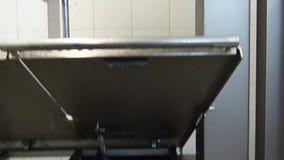 Het schoonmaken van de detergent residu's van vlees stock video