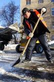 Het schoonmaken van de sneeuw Stock Afbeelding