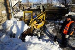 Het schoonmaken van de sneeuw Royalty-vrije Stock Afbeelding