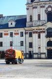 Het schoonmaken van de stad Stock Afbeelding