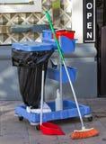 Het schoonmaken van de straten Royalty-vrije Stock Foto's