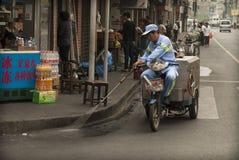 Het schoonmaken van de straten Royalty-vrije Stock Afbeeldingen