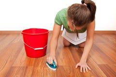 Het schoonmaken van de vloer Royalty-vrije Stock Fotografie
