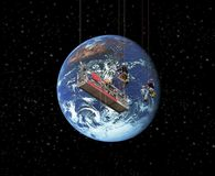 Het schoonmaken van de wereld Stock Foto