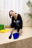 Het schoonmaken van het huis Stock Afbeelding