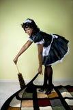 Het schoonmaken van het meisje Royalty-vrije Stock Foto