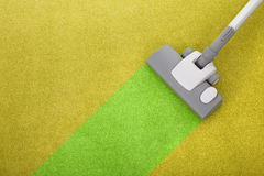 Het schoonmaken van het tapijt Stock Foto