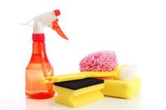 Het schoonmaken van levering Stock Foto