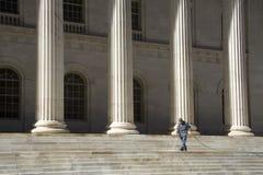 Het schoonmaken van stairs_wide royalty-vrije stock fotografie