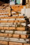 Het schoonmaken van Varanasi Ghat Royalty-vrije Stock Afbeeldingen