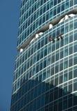 Het schoonmaken van vensters Stock Foto