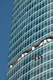 Het schoonmaken van vensters Royalty-vrije Stock Foto