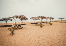 Het schoonste strand op de Atlantische Oceaan Liberia, West-Afrika Stock Fotografie