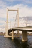 Het Schot van de Dag van de Hangbrug van de kabel Royalty-vrije Stock Foto's