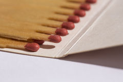 Het schot van de Matchbookclose-up Stock Foto
