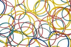 Het Schot van de studio van Multi Gekleurde Elastiekjes Stock Afbeeldingen