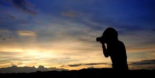 Het schot van de zonsondergang Stock Foto's