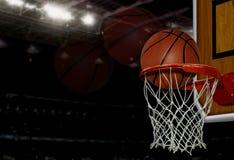 Het schot van het basketbal Royalty-vrije Stock Foto's