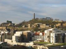 Het Schotse Parlement, Edinburgh stock afbeeldingen