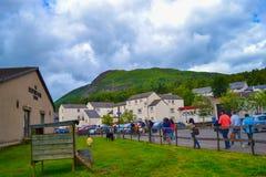 Het Schotse Wolcentrum in Aberfoyle, Stirling, Schotland royalty-vrije stock afbeeldingen