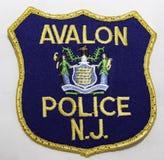 Het schouderflard van Avalon Police Department in New Jersey stock foto