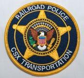 Het schouderflard van de CSX-de Politieafdeling van de Vervoersspoorweg royalty-vrije stock afbeelding