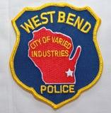 Het schouderflard van de de Politieafdeling van de het Westenkromming in Wisconsin stock foto's