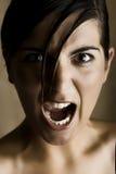 Het schreeuwen Stock Foto's