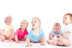 Het schreeuwen en doen schrikken babys Royalty-vrije Stock Foto's
