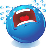 Het schreeuwen Smiley. Emoties. Stock Foto