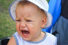 Het schreeuwen van de baby Stock Foto