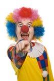 Het schreeuwen van de clown Royalty-vrije Stock Foto's