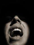 Het schreeuwen van de mens Stock Foto