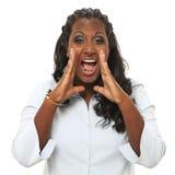 Het schreeuwen van de vrouw Stock Fotografie