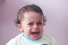 Het schreeuwende Meisje van de Baby Royalty-vrije Stock Foto