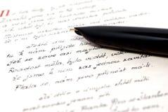 Het schrijven. stock afbeeldingen
