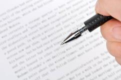 Het schrijven stock afbeelding